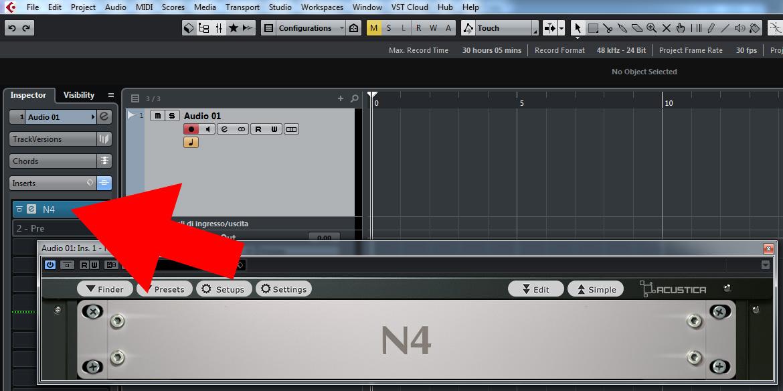 Install N4 Player in DAW