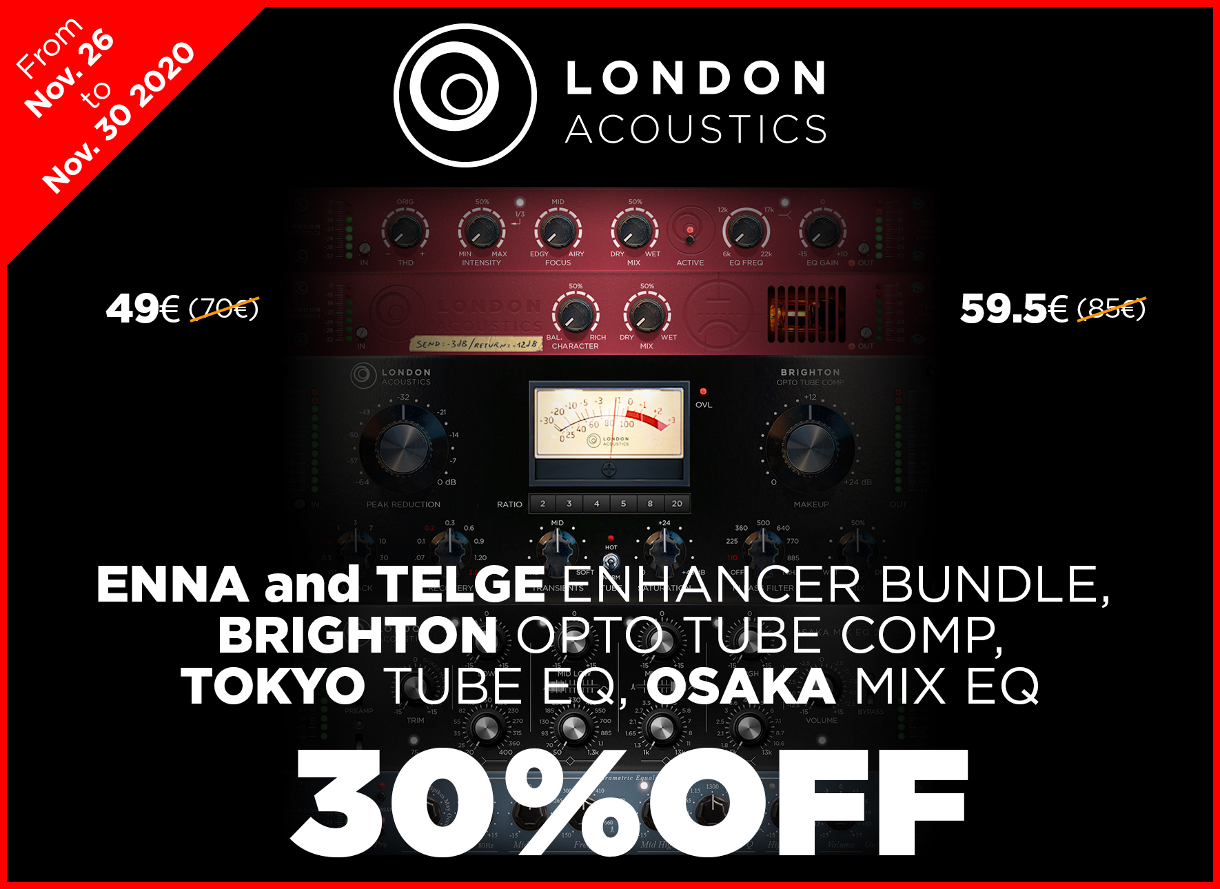 30 Percent Off London Acoustics 2020 Black Friday